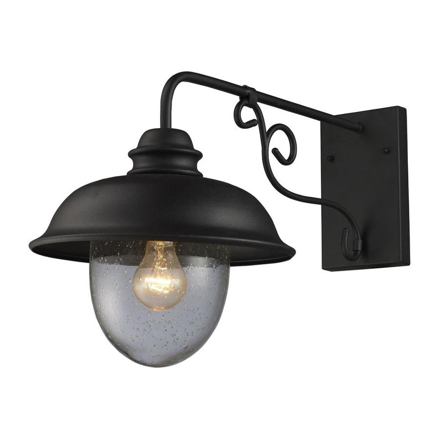 Westmore Lighting Brier 14-in H Matte Black Outdoor Wall Light