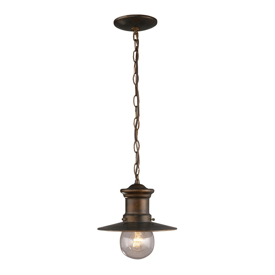Westmore Lighting Del Mar 10-in Hazelnut Bronze Outdoor Pendant Light