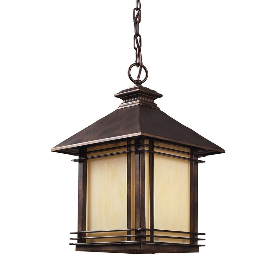 Outdoor Hanging Lanterns Lowes: Westmore Lighting Croglio Hazelnut Bronze Single Craftsman