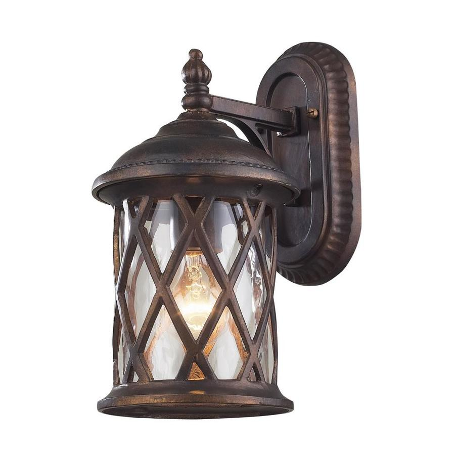 Westmore Lighting Ludwig 13-in H Hazelnut Bronze Outdoor Wall Light