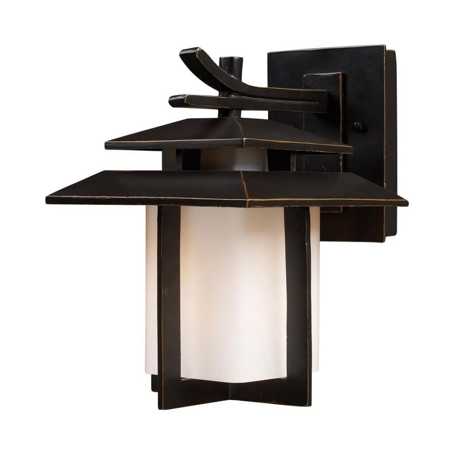 Westmore Lighting Tahara 11-in H Hazelnut Bronze Outdoor Wall Light