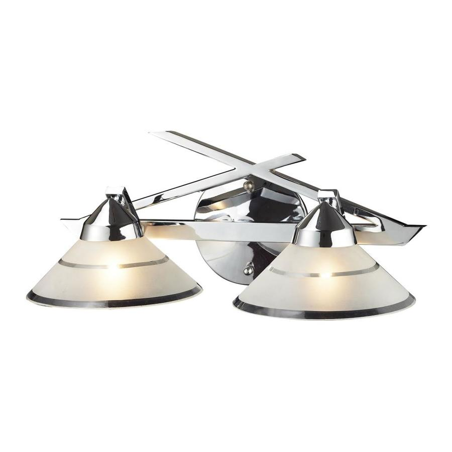 Westmore Lighting Beryl 2-Light 7-in Polished chrome Cone Vanity Light