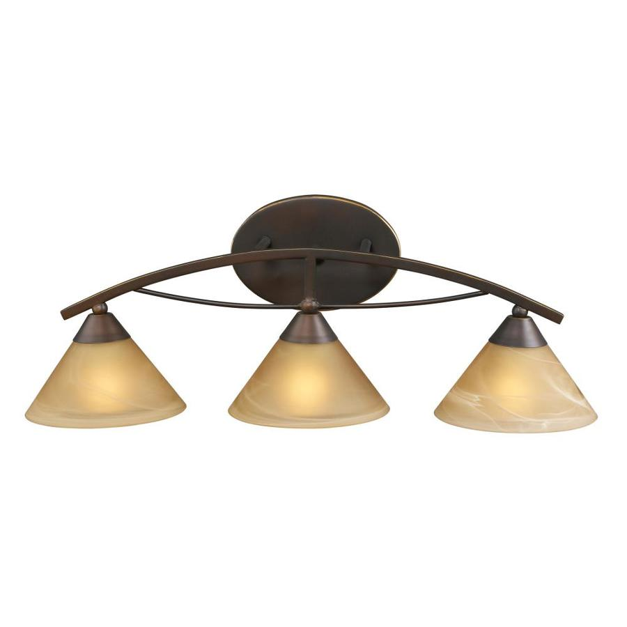 Westmore Lighting Beckett 3-Light 8-in Aged Bronze Cone Vanity Light