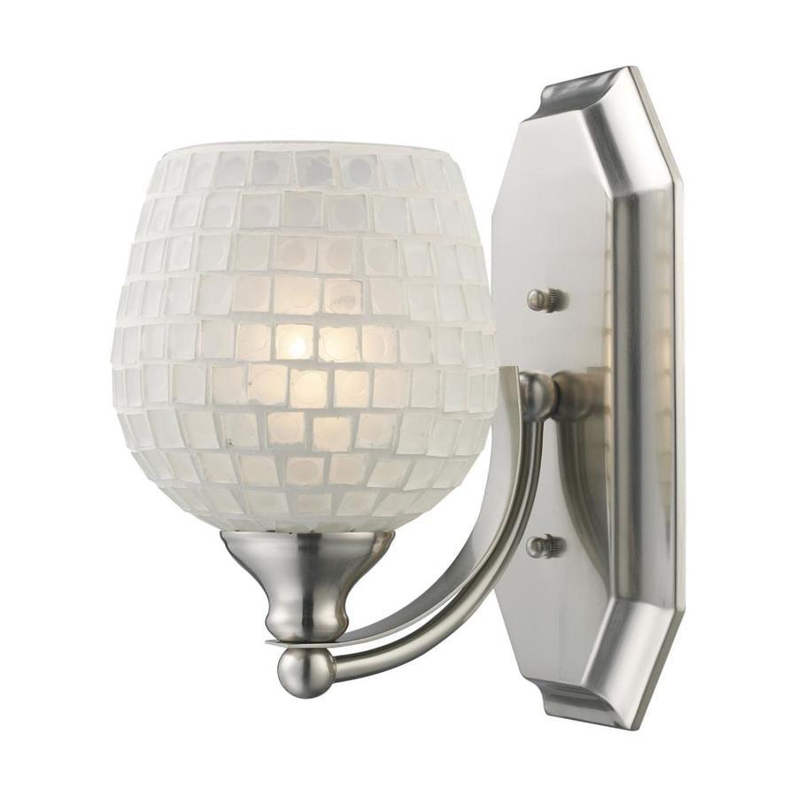 Westmore Lighting Homestead 1-Light 10-in Satin nickel Bowl Vanity Light