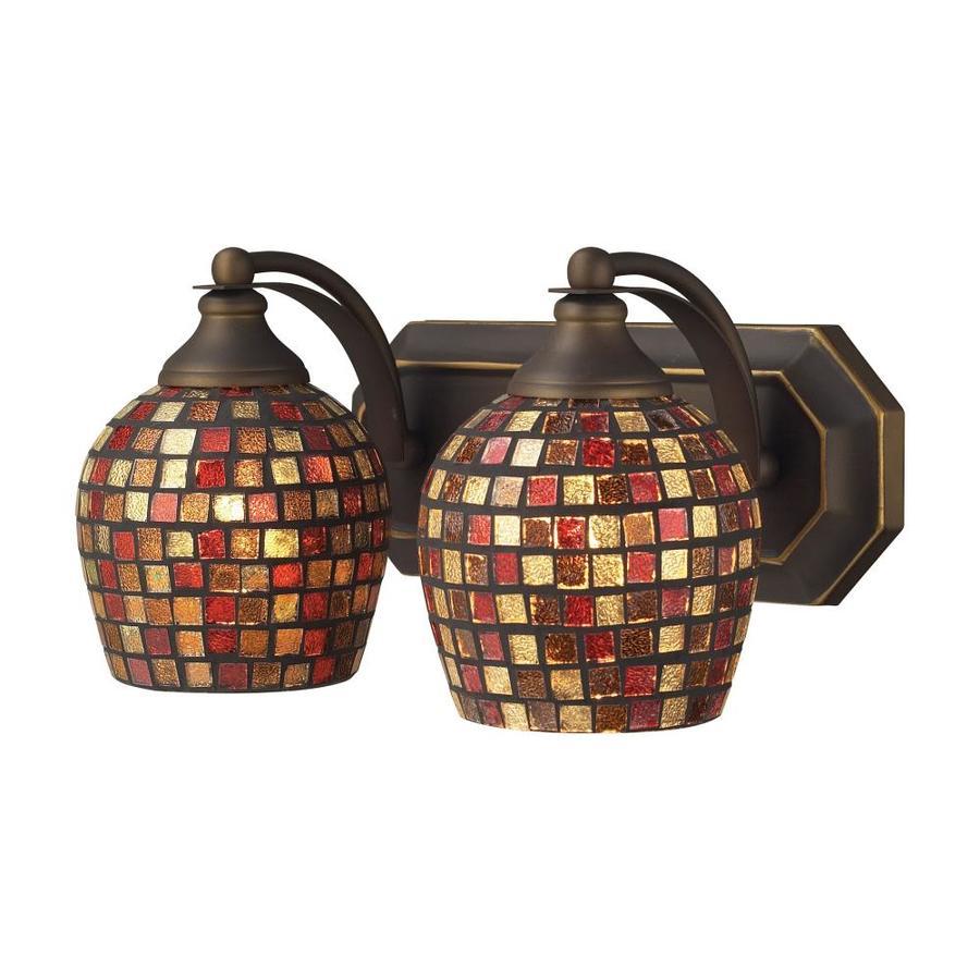 Westmore Lighting Homestead 2-Light 7-in Aged bronze Bowl Vanity Light