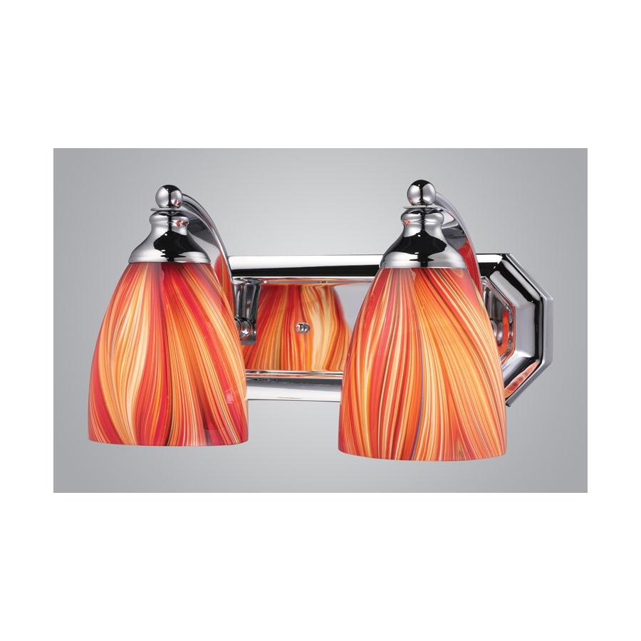 shop westmore lighting 2 light polished chrome bathroom vanity light