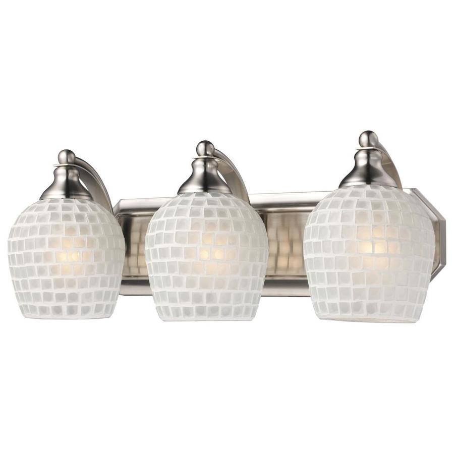 Westmore Lighting Homestead 3-Light 7-in Satin nickel Bowl Vanity Light