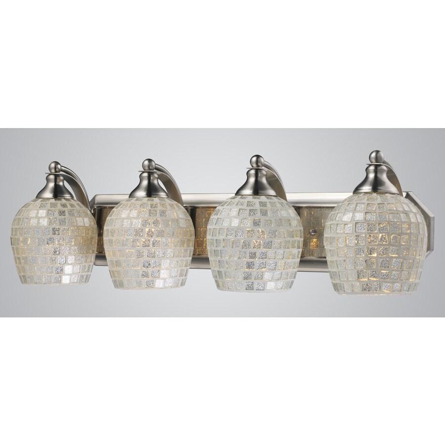 Westmore Lighting Homestead 4-Light 7-in Satin Nickel Bowl Vanity Light