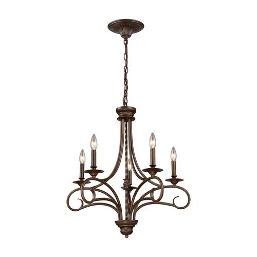 Westmore Lighting Topanga 5 Light Antique Bronze Traditional Candle Chandelier At Lowes Com