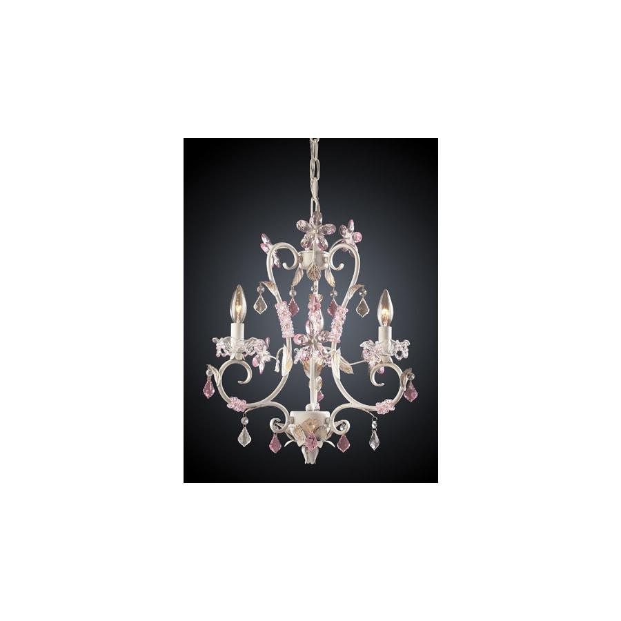 Westmore Lighting Julia 3-Light Antique White Crystal Chandelier