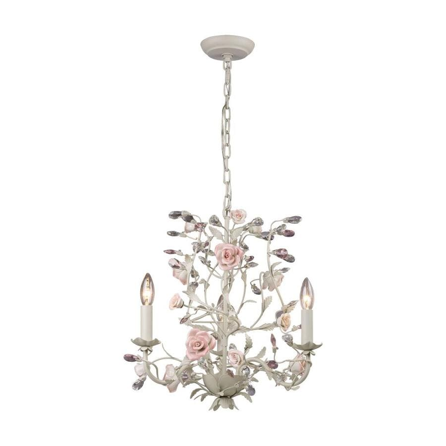 Westmore Lighting Beaumont 18-in 3-Light Cream Crystal Candle Chandelier