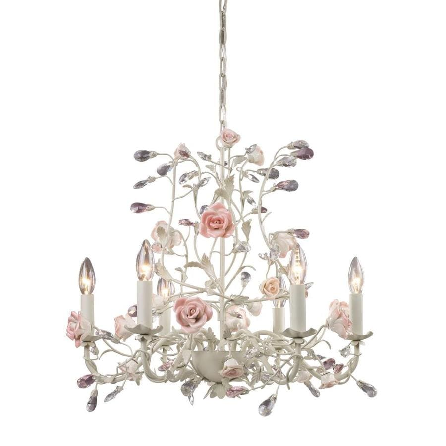 Westmore Lighting Beaumont 22-in 6-Light Cream Candle Chandelier