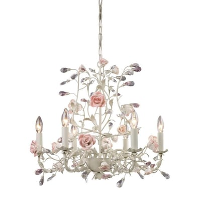 Beaumont 6 Light Cream Traditional Candle Chandelier