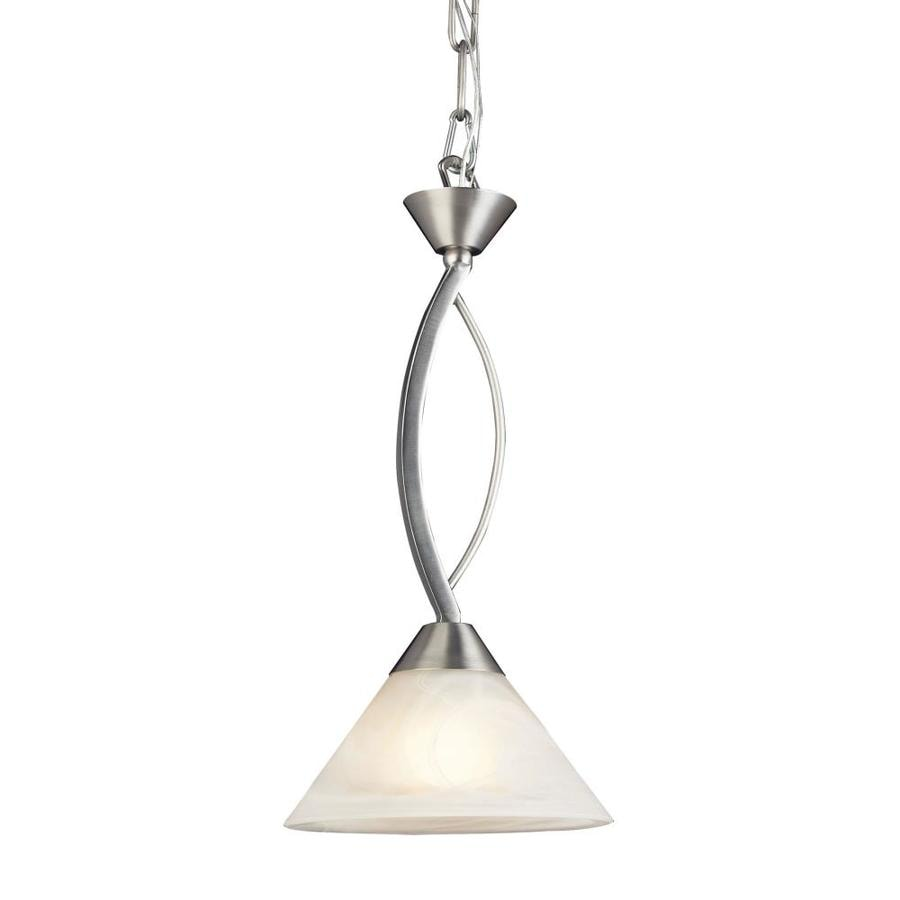 Westmore Lighting Beckett 7-in Satin Nickel Single Cone Pendant