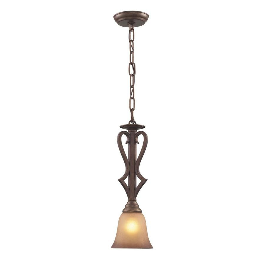 Westmore Lighting Laughlin 6-in Mocha Single Tinted Glass Bell Pendant