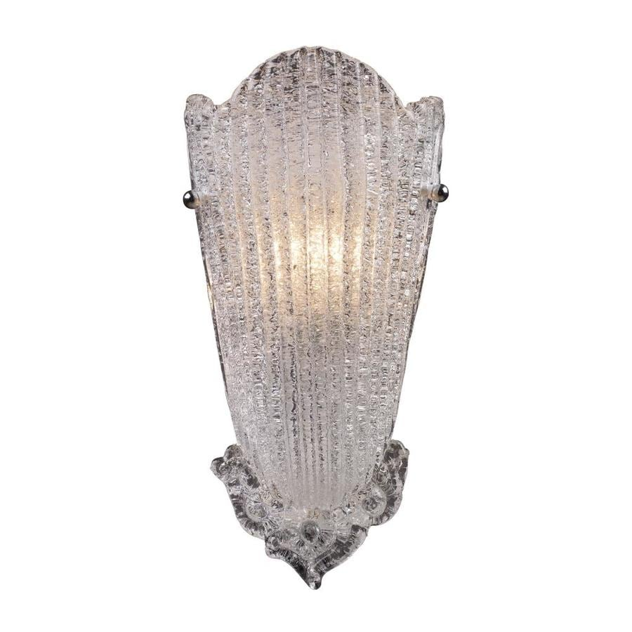 Westmore Lighting Providence 8-in W 1-Light Antique Silver Leaf Pocket Wall Sconce