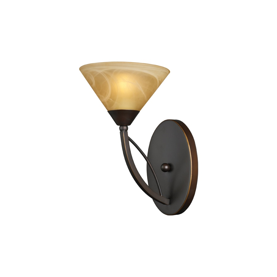 Shop Westmore Lighting Elysburg 7 In W 1 Light Aged Bronze Arm Wall Sconce At