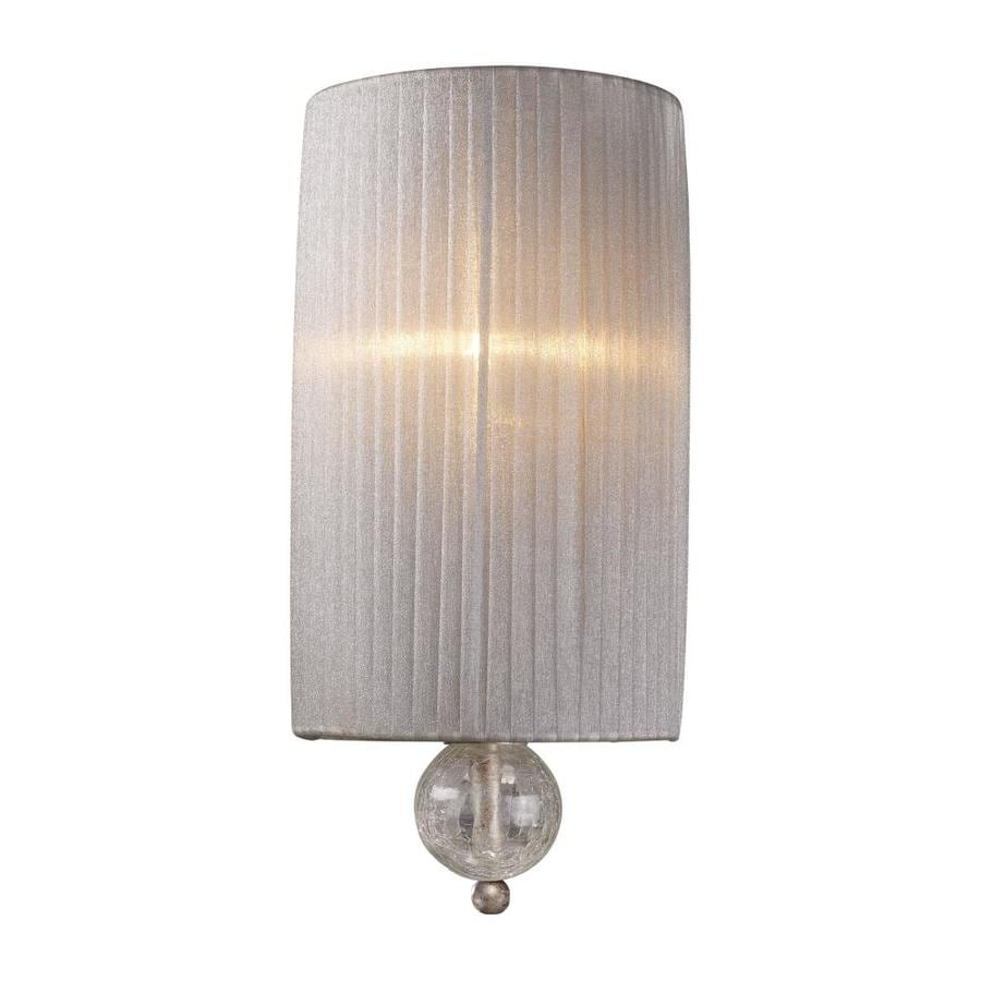 Westmore Lighting Alexis 7-in W 1-Light Antique Silver Arm Wall Sconce