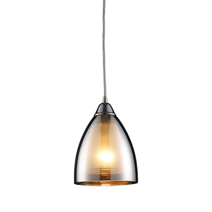 Westmore Lighting 6-in Polished Chrome Mini Tinted Glass Teardrop Pendant