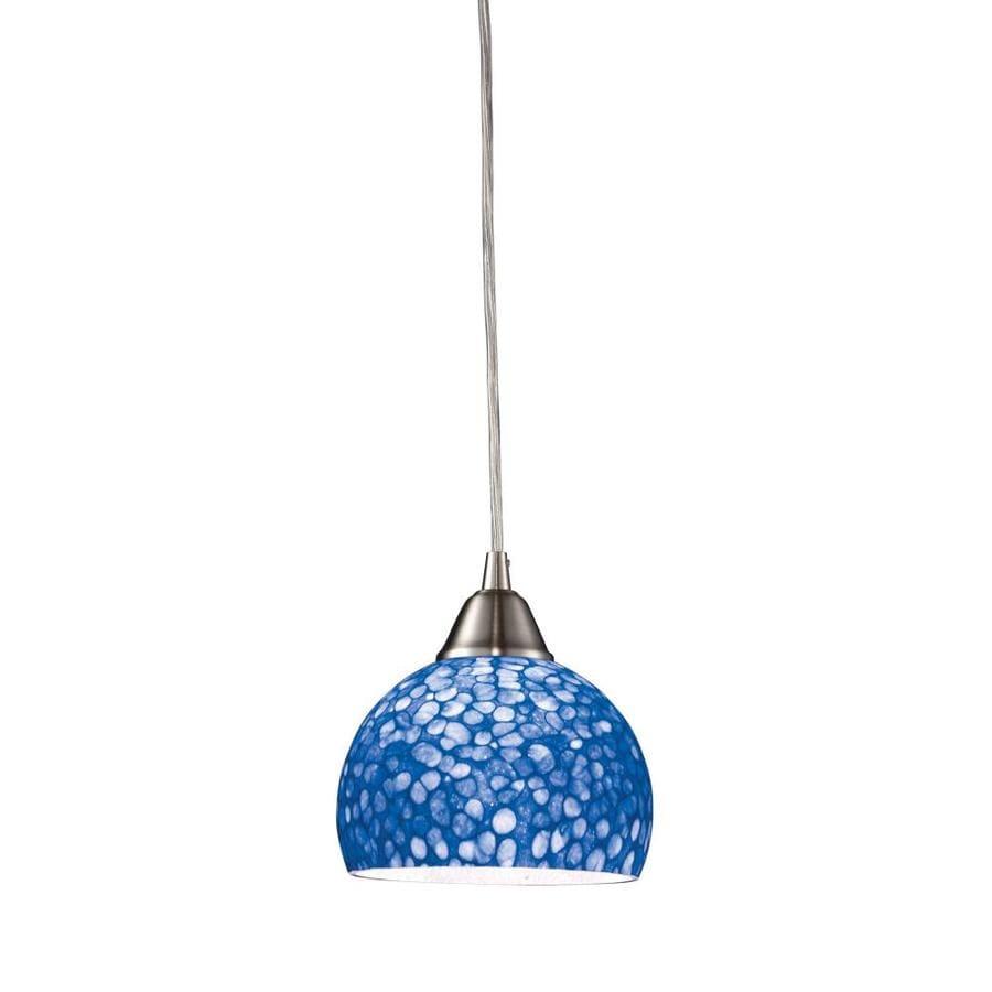 Westmore Lighting 6-in Satin Nickel Mini Tinted Glass Globe Pendant