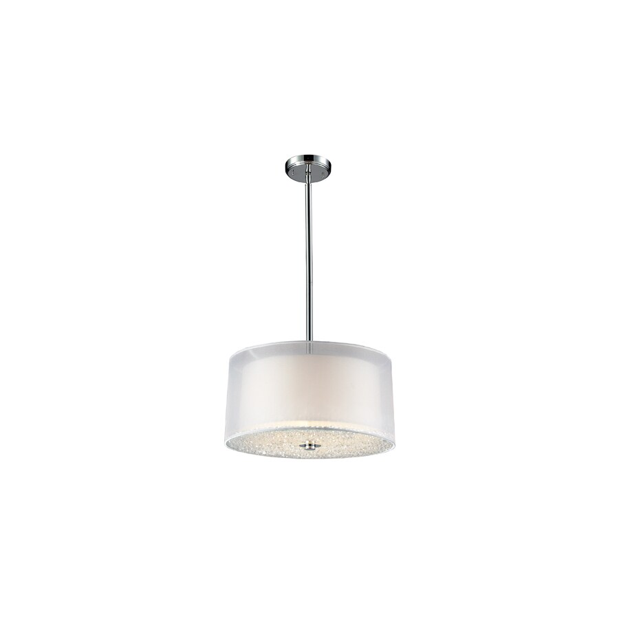 Westmore Lighting Nadu 18-in Polished Chrome Crystal Mini Drum Pendant