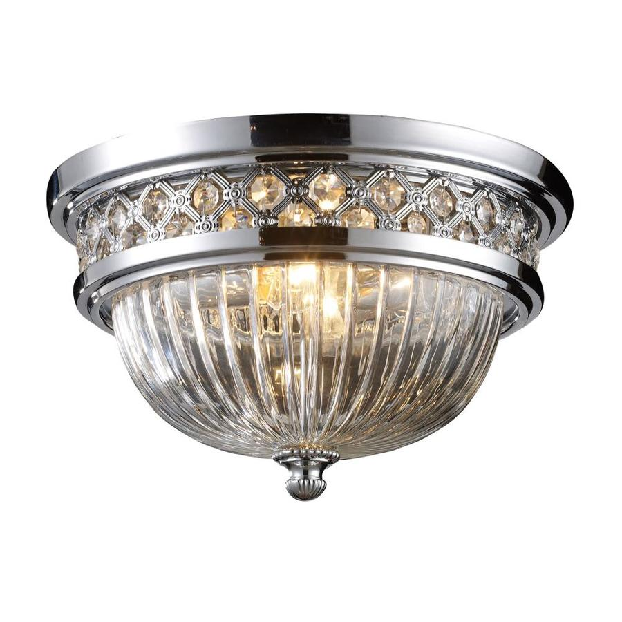Westmore Lighting 13-in W Polished chrome Flush Mount Light