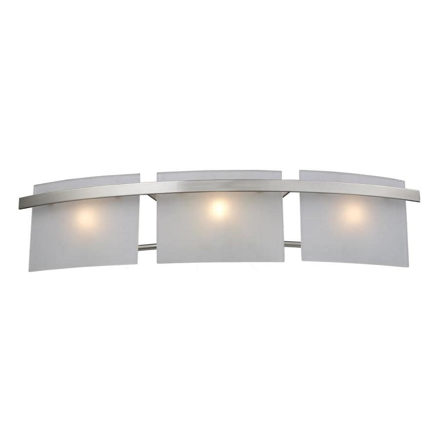 Westmore Lighting Loughrew 3-Light 6-in Satin Nickel Rectangle Vanity Light