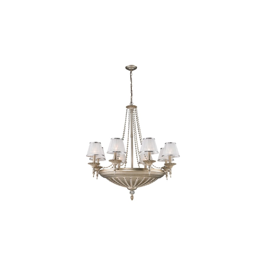 Westmore Lighting Patra 37-in 14-Light Aged Silver Shaded Chandelier
