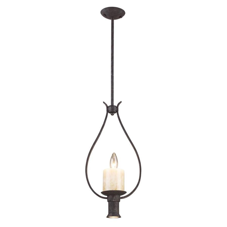 Westmore Lighting Warley 10-in Moonlit Rust Rustic Single Teardrop Pendant