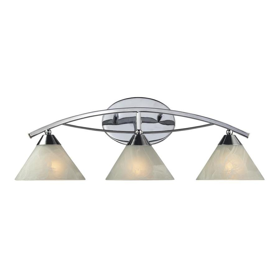 Westmore Lighting Beckett 3-Light 10-in Polished chrome Cone Vanity Light