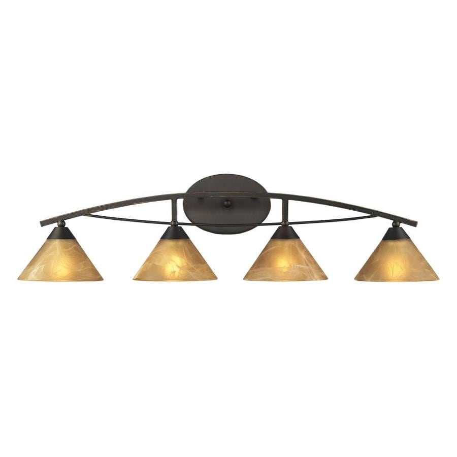 Westmore Lighting Beckett 4-Light 9-in Aged Bronze Cone Vanity Light