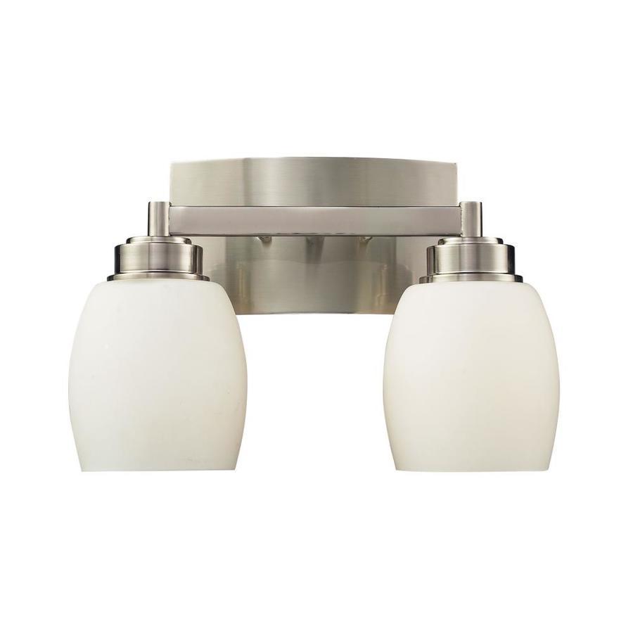 Westmore Lighting Crosby 2-Light 9-in Satin Nickel Rectangle Vanity Light