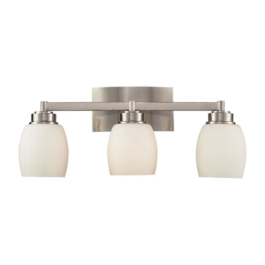 Vanity Lights Satin Nickel : Shop Westmore Lighting Crosby 3-Light 9-in Satin Nickel Oval Vanity Light at Lowes.com