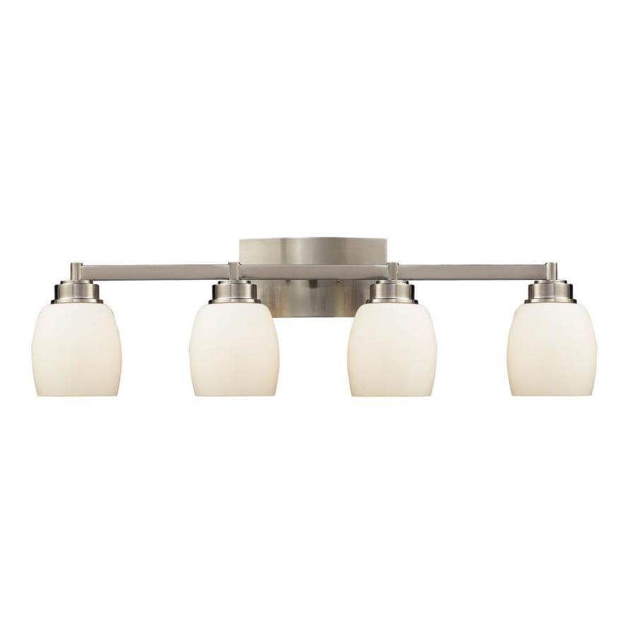 Westmore Lighting Crosby 4-Light 9-in Satin Nickel Oval Vanity Light