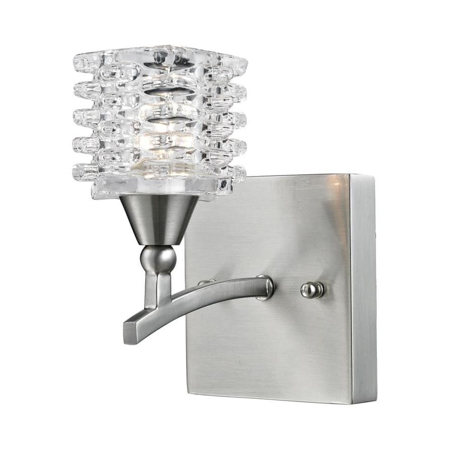 Westmore Lighting Scion 1-Light 4-in Satin nickel Geometric Vanity Light