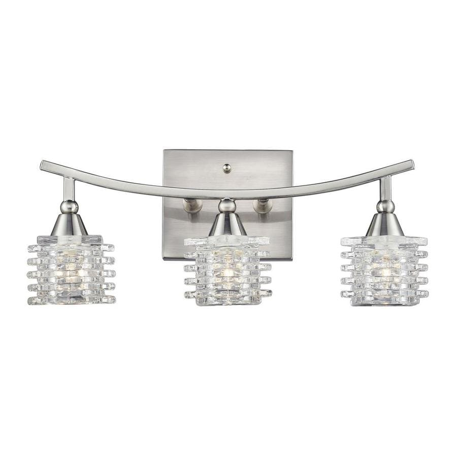 Westmore Lighting Scion 3-Light 7-in Satin Nickel Geometric Vanity Light