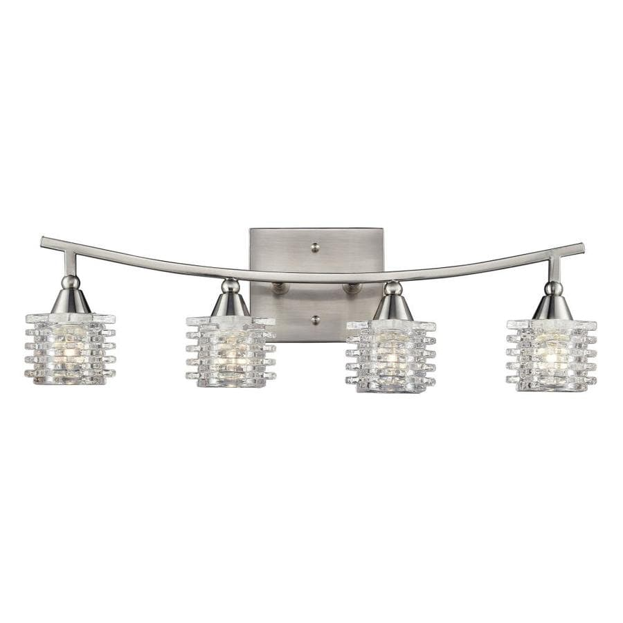 Westmore Lighting Scion 4-Light 7-in Satin Nickel Geometric Vanity Light