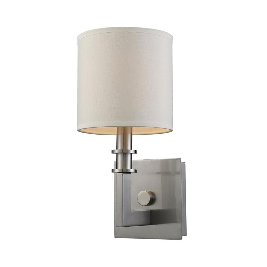 Skyrim Wall Sconces Not Working : Shop Westmore Lighting 6-in W 1-Light Satin Nickel Arm Wall Sconce at Lowes.com