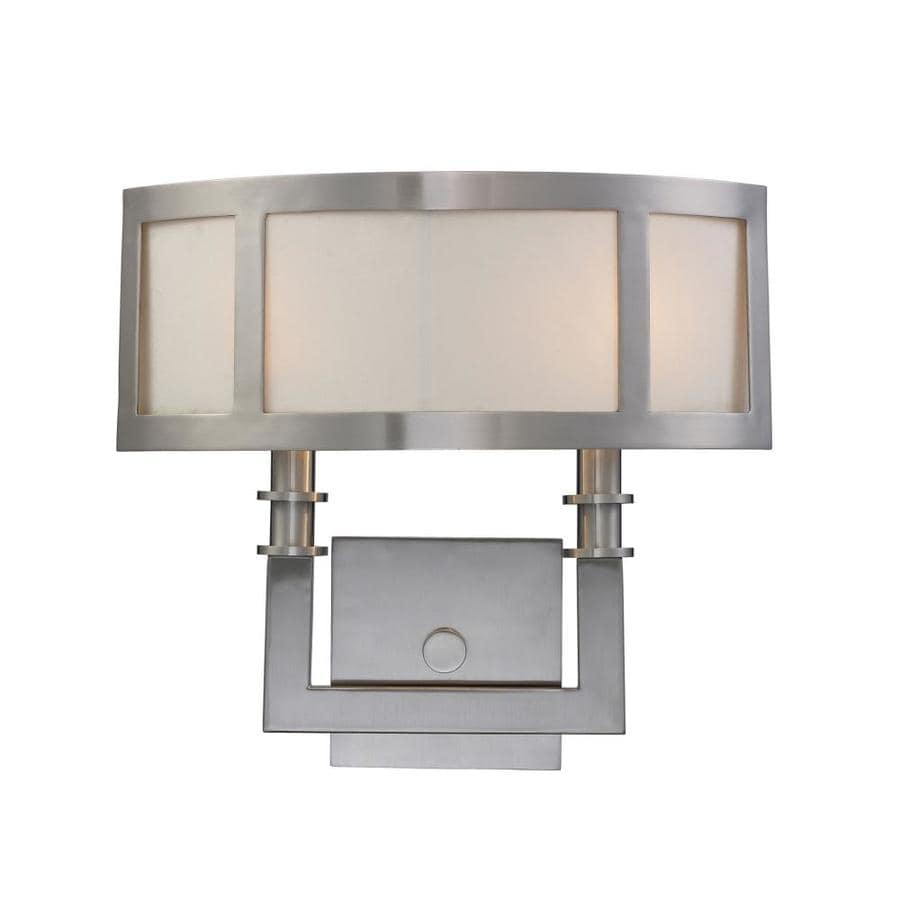 Westmore Lighting 14.5-in W 2-Light Satin nickel Pocket Wall Sconce