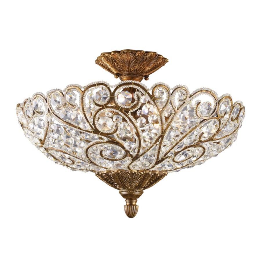 Westmore Lighting Pasha 20-in W Spanish bronze Clear Glass Semi-Flush Mount Light
