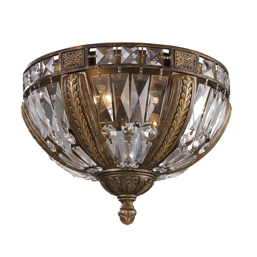 Westmore Lighting 15-in W Antique Bronze Ceiling Flush Mount Light