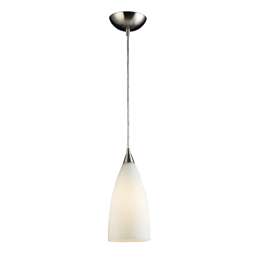 Westmore Lighting 5-in Satin Nickel Mini Teardrop Pendant
