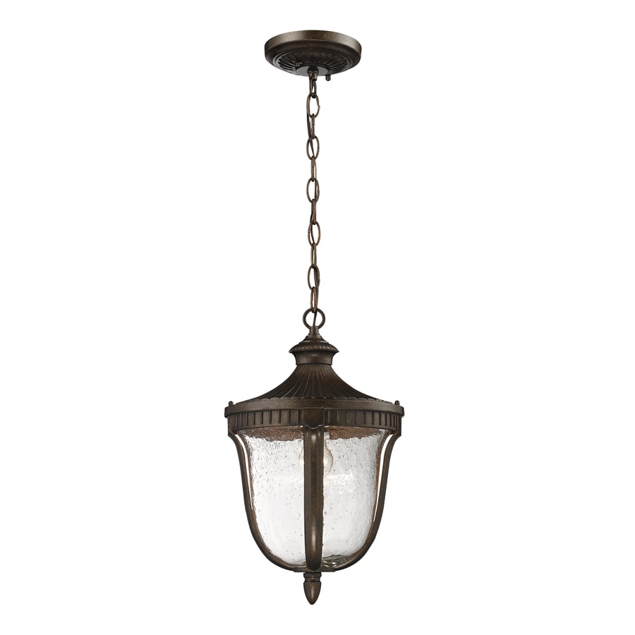 Westmore Lighting Seville 18-in Hazelnut Bronze Outdoor Pendant Light
