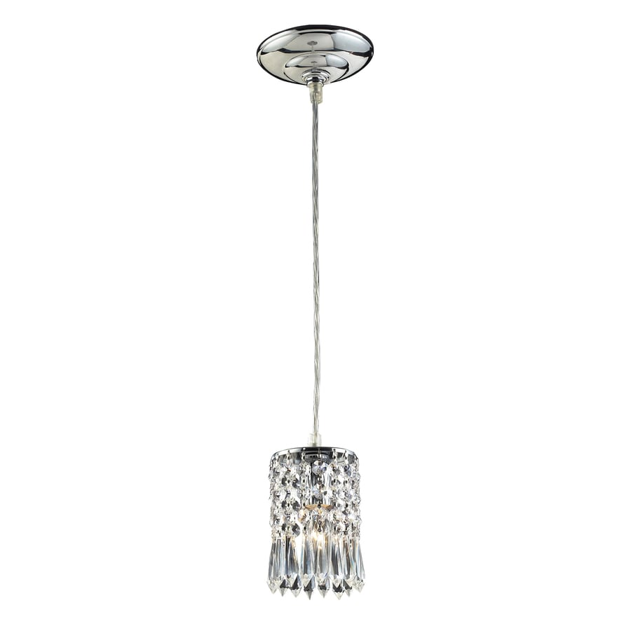 Westmore Lighting 4-in Polished Chrome Crystal Mini Crystal Cylinder Pendant