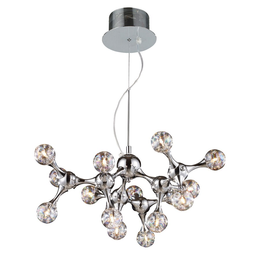 Westmore Lighting Singularity 25-in 15-Light Polished Chrome Clear Glass Abstract Chandelier