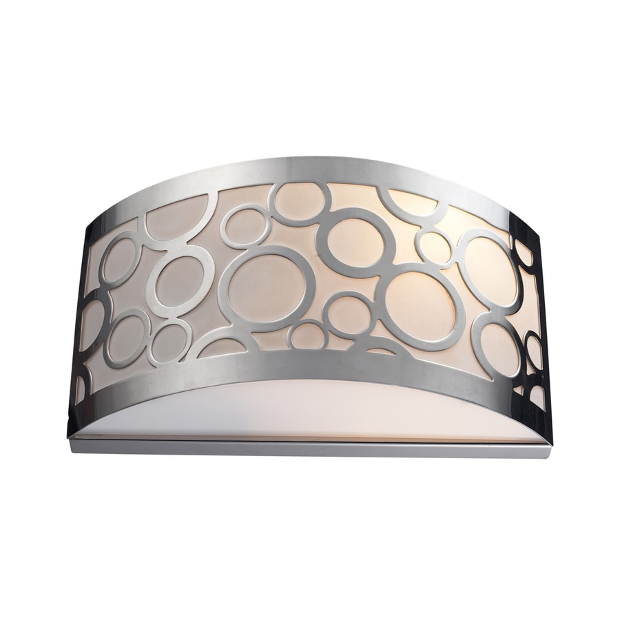 Westmore Lighting 12-in W 1-Light Polished Nickel Pocket Hardwired Wall Sconce