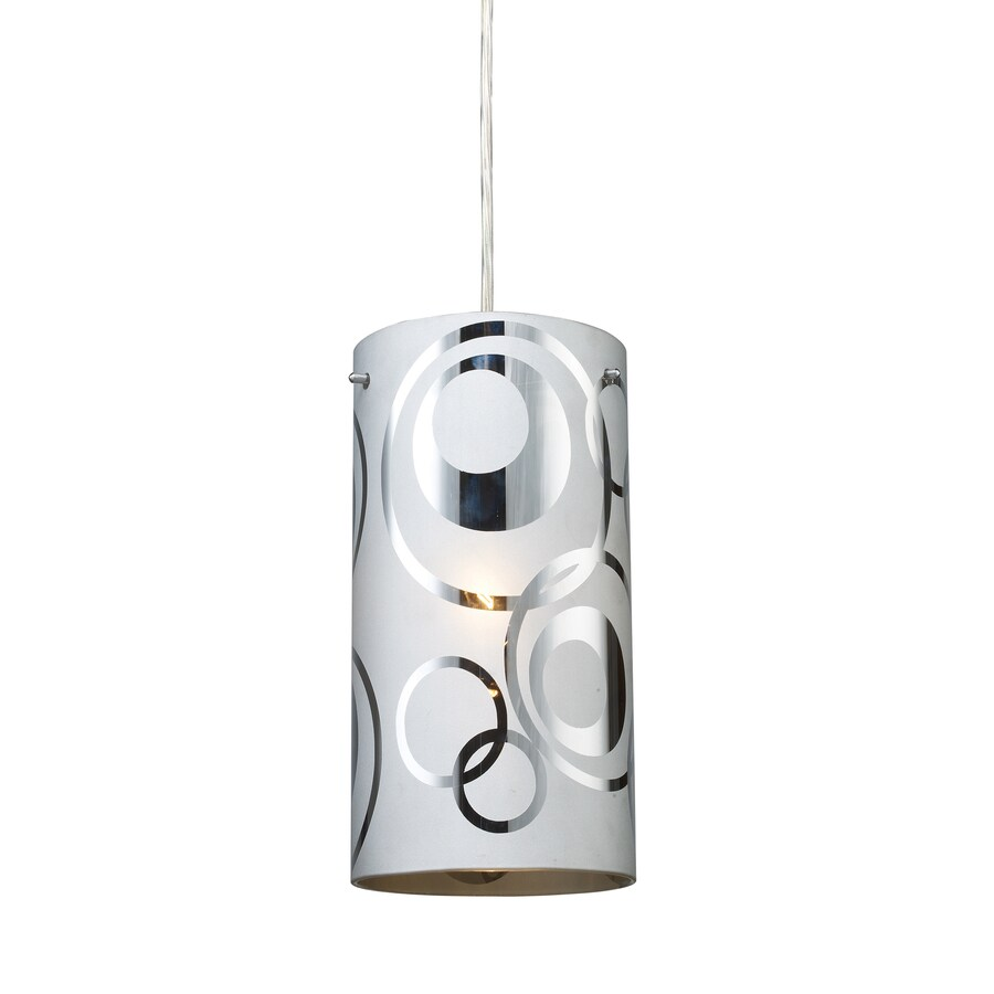 Westmore Lighting 5-in Polished Chrome Mini Tinted Glass Cylinder Pendant