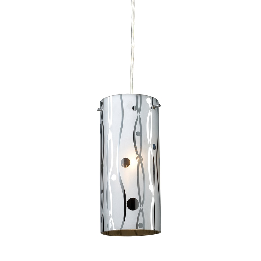 Westmore Lighting 4-in Polished Chrome Mini Tinted Glass Cylinder Pendant