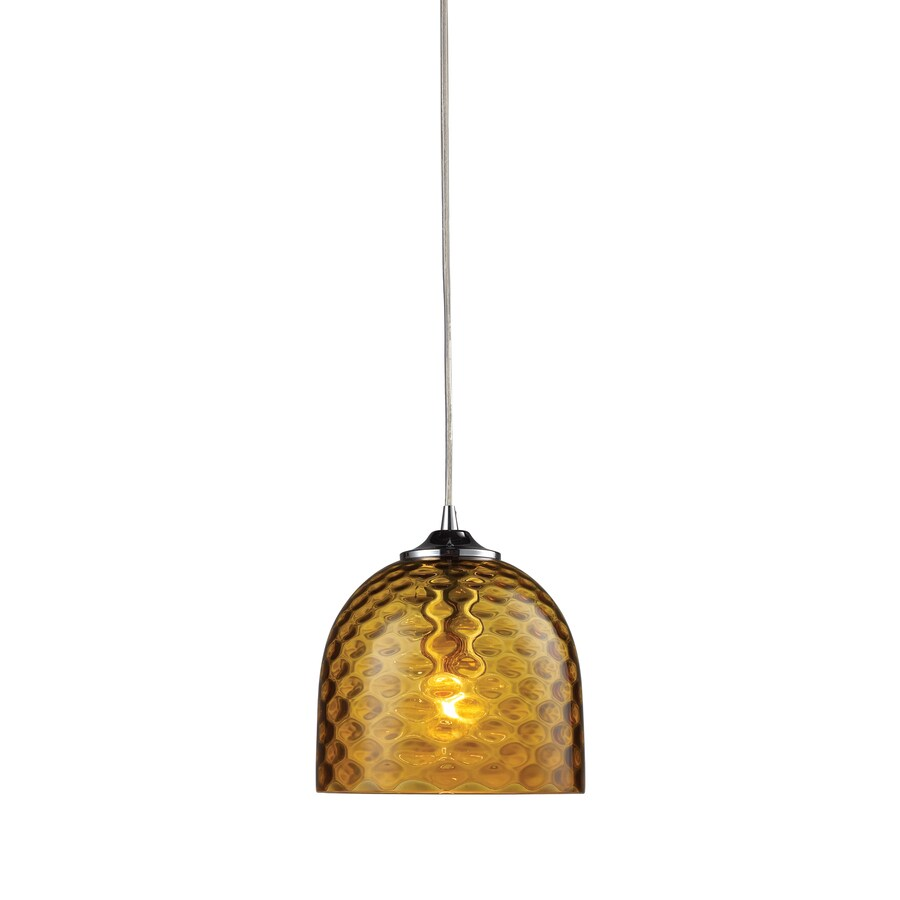 Westmore Lighting 7-in Satin Nickel Mini Tinted Glass Dome Pendant