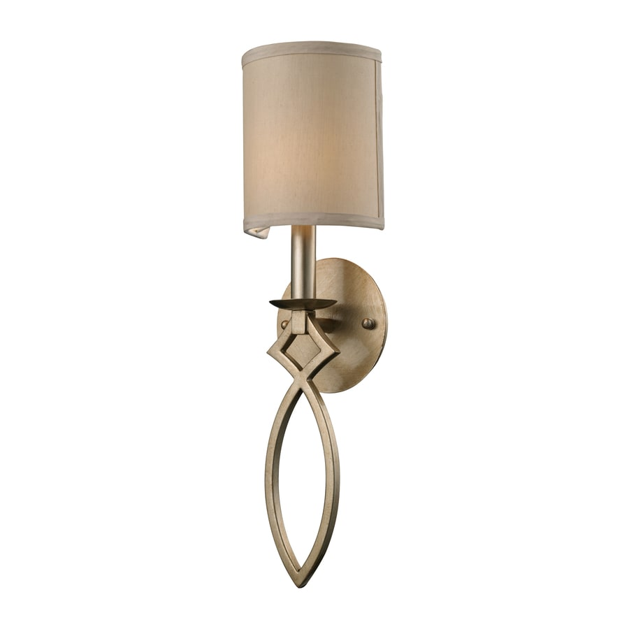 Westmore Lighting 5-in W 1-Light Aged Silver Arm Hardwired Wall Sconce